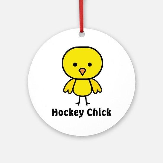 hockey chick Round Ornament