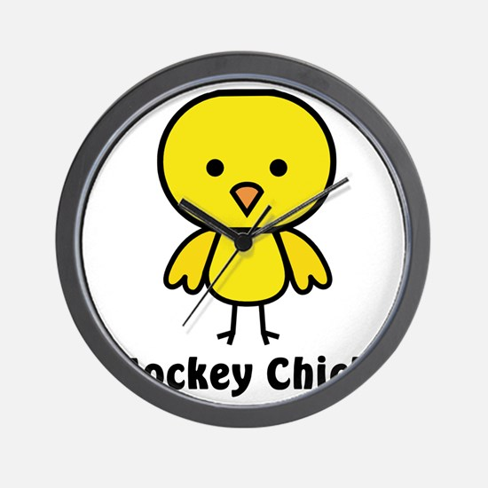 hockey chick Wall Clock