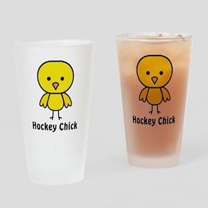 hockey chick Drinking Glass