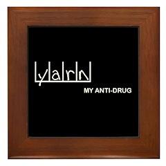 Yarn - My Anti-Drug Framed Tile