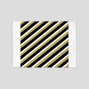 Team Colors...Black,gold 5'x7'Area Rug