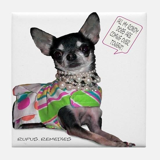 Chloe-Chihuahua Tile Coaster