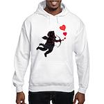 Valentine's Hooded Sweatshirt Cupid Love Hearts