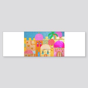 Jerusalem City of Gold Bumper Sticker
