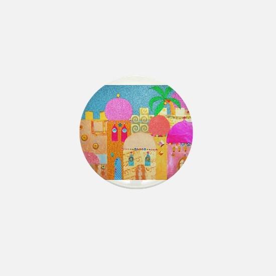 Jerusalem City of Gold Mini Button