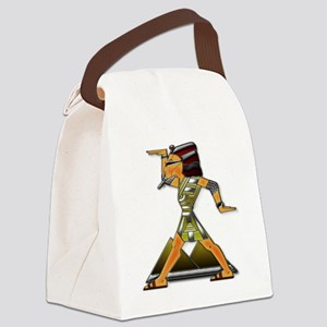 Funky Egyptian Guy Ruby and Sqaur Canvas Lunch Bag