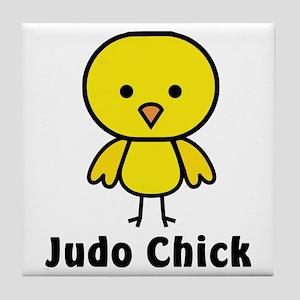 Judo Chick Tile Coaster