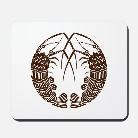 Facing spiny lobsters Mousepad