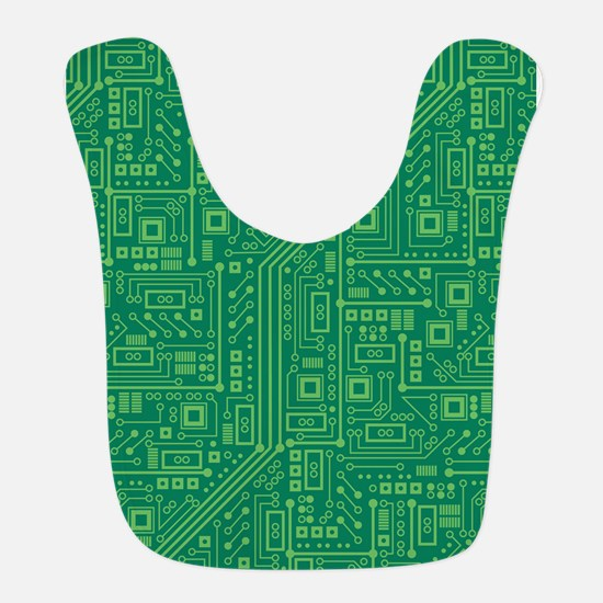 Green Circuit Board Bib