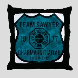 2-team sawyer Throw Pillow