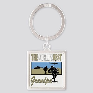 Best Military Grandpa copy Square Keychain