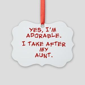 adorable-aunt Picture Ornament