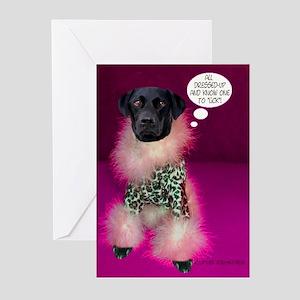 Black Lab Leopard Greeting Cards (Pk of 10)