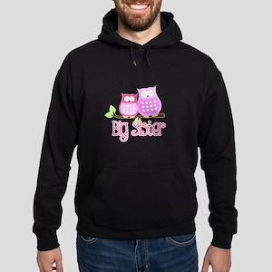 Big Sister Pink Owls Hoodie