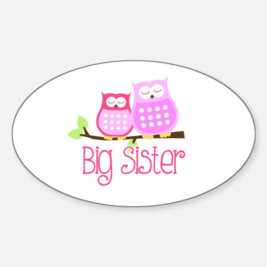 Big Sister Pink Owls Decal