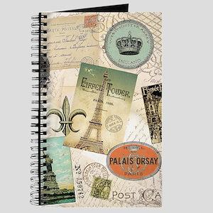 Vintage Travel collage Journal