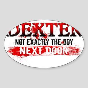 Boy Next Door Hat Sticker (Oval)