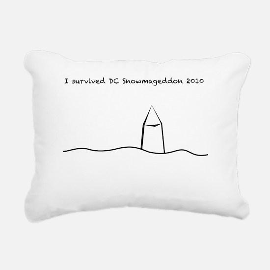 Snowmageddon final white Rectangular Canvas Pillow
