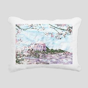 Cherry Blossoms: Jeffers Rectangular Canvas Pillow