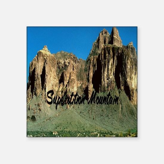 "Superstition Mountain3.25x6 Square Sticker 3"" x 3"""