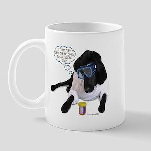 Black Lab Scientist Mug