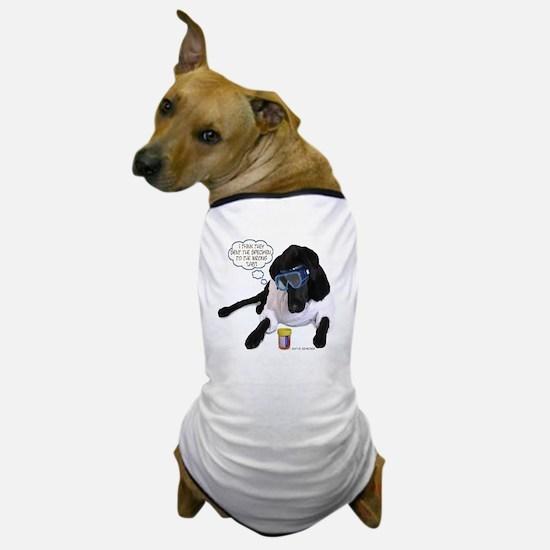 Black Lab Scientist Dog T-Shirt