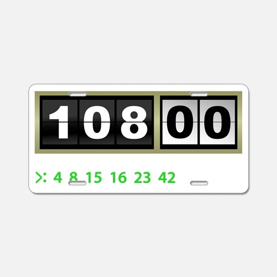 Lost-108-minutes-and-number Aluminum License Plate