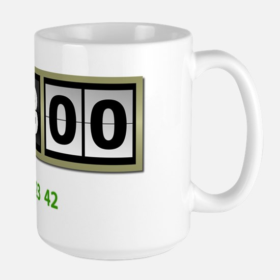Lost-108-minutes-and-numbers-(white) Large Mug