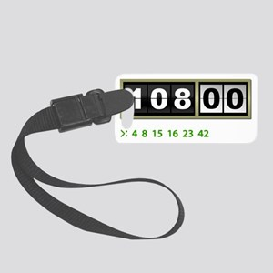 Lost-108-minutes-and-numbers-(wh Small Luggage Tag