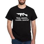 Here Zombie Zombie Zombie Gun Dark T-Shirt