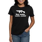 Here Zombie Zombie Zombie Gun Women's Dark T-Shirt