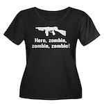 Here Zombie Zombie Zombie Gun Women's Plus Size Sc