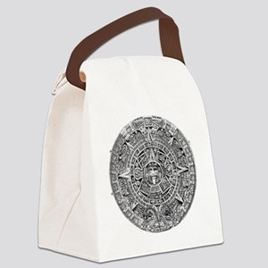Aztec Calendar Stone wt 25 tons d Canvas Lunch Bag