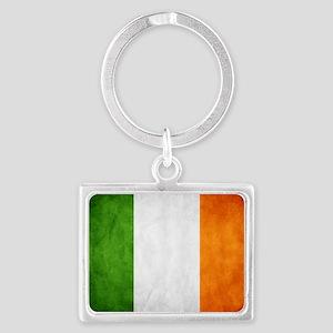 irish_flag_banner Landscape Keychain