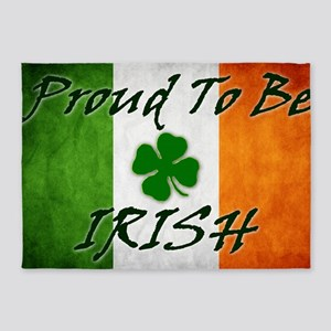 irish_flag_banner_2w 5'x7'Area Rug
