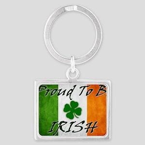 irish_flag_banner_2w Landscape Keychain