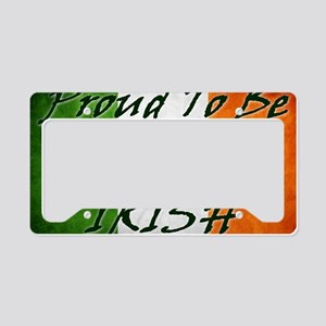 irish_flag_banner_2w License Plate Holder