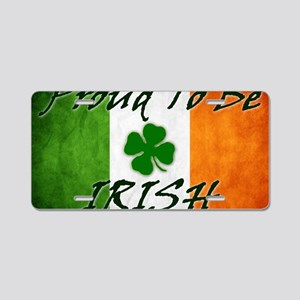 irish_flag_banner_2w Aluminum License Plate
