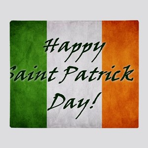 irish_flag_banner_6w Throw Blanket