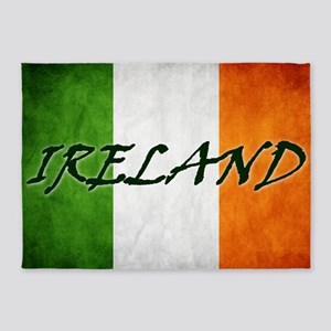 irish_flag_banner_4w 5'x7'Area Rug