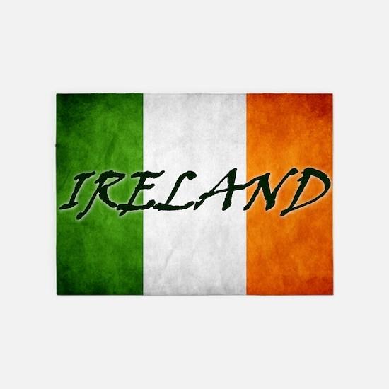irish_flag_banner_4w 5'x7'Area Rug