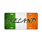 Irish shamrock flag License Plates