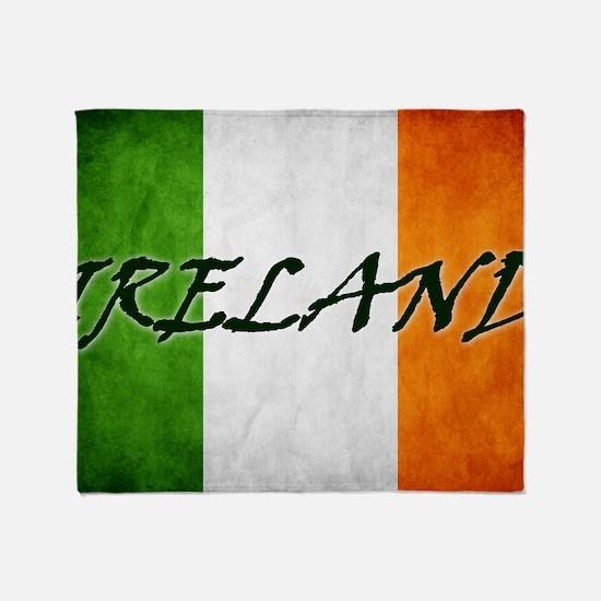 irish_flag_banner_4w Throw Blanket