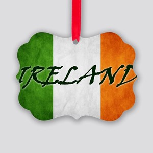 irish_flag_banner_4w Picture Ornament