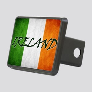 irish_flag_banner_4w Rectangular Hitch Cover
