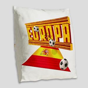 Spain Europa Football Burlap Throw Pillow