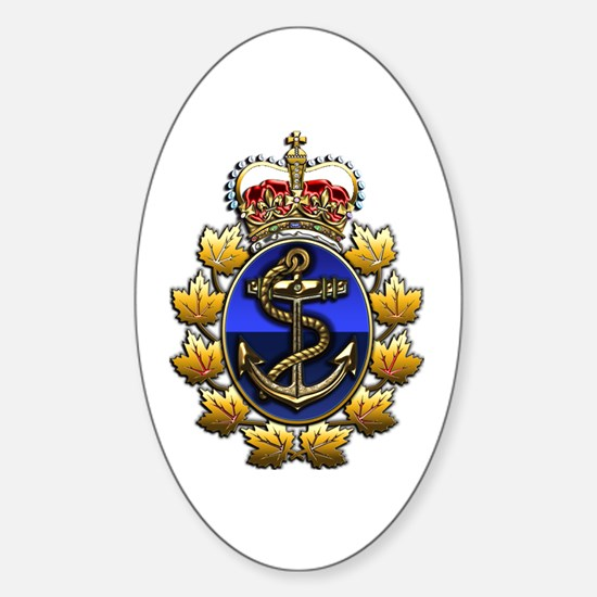 CF Naval Operations Command Logo Sticker (Oval)