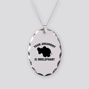 Your Argument Is Irrelephant Necklace Oval Charm