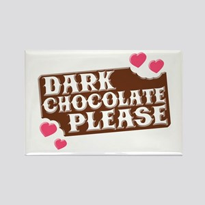 Dark Chocolate Please Hearts Rectangle Magnet