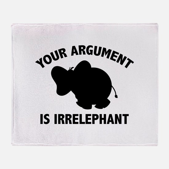 Your Argument Is Irrelephant Stadium Blanket